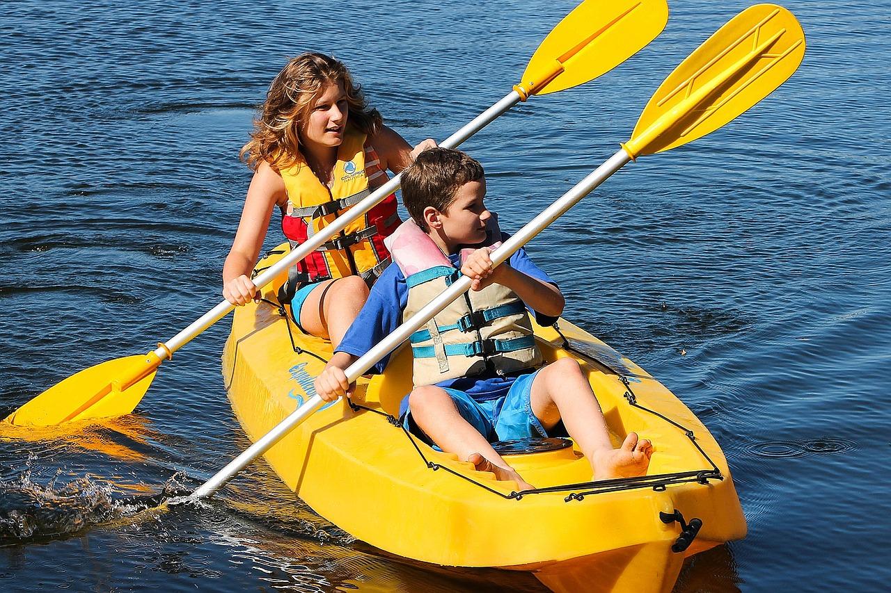 Kayak en baie de Canche